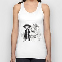 day of the dead Tank Tops featuring Day of the Dead by Mono Ahn