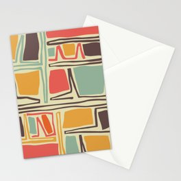 Whimsical abstract pattern design Stationery Cards