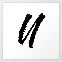 Letter U Ink Monogram Art Print