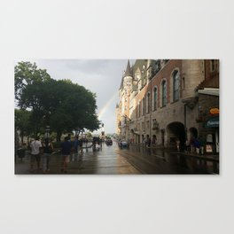 Rainbow at the Frontenac Canvas Print