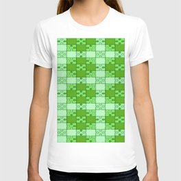 Puzzle Pattern,green T-shirt