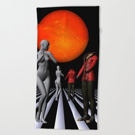 when they meet -1- Beach Towel