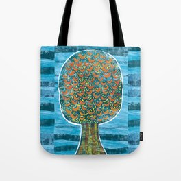 Tree and Birds Tote Bag