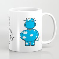 cows Mugs featuring COWS by thestalewhale