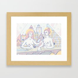 Girls in the City Framed Art Print