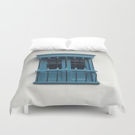 Window. Fashion Textures Duvet Cover