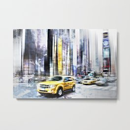 City-Art TIMES SQUARE I Metal Print