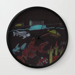 NightTime Aquarium Wall Clock