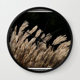 YAKU JIMA GRASS IN BACKLIT SUN Wall Clock