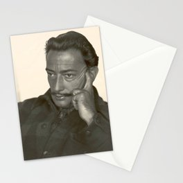 Salvador Dali old photo Stationery Cards