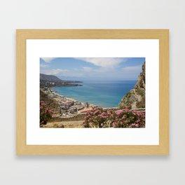 Cefalu view from La Roca Framed Art Print