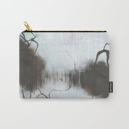 Into the Storm - Square Abstract Expressionism Carry-All Pouch
