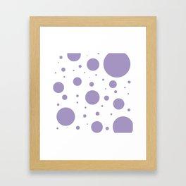 Lavender Bubbles Print Framed Art Print