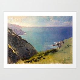 Abbott Handerson Thayer - Cornish Headlands (1898) Art Print