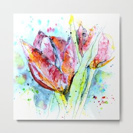 Painting with Tulips Metal Print