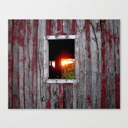 Barn Window Sunrise, Warner, Oklahoma Canvas Print