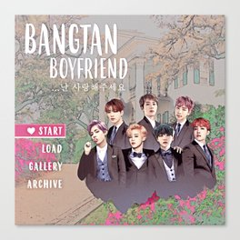 Bangtan Boyfriend Dating Sim Canvas Print