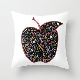 Teacher's Apple colour Throw Pillow