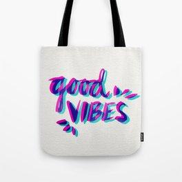 Good Vibes – Magenta & Cyan Tote Bag