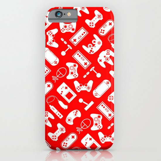 Control Your Game - White on Red iPhone & iPod Case