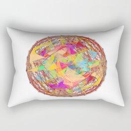 Abstract String Ball Rectangular Pillow