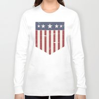 flag Long Sleeve T-shirts featuring Flag by Emma Harckham
