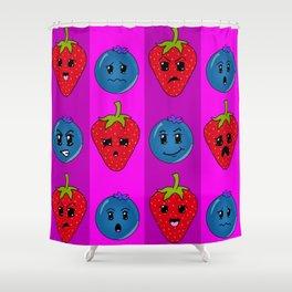 Fruit Faces Shower Curtain