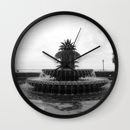 Pineapple Fountain Charleston River Park Wall Clock
