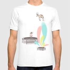 Gazelles Make Bad Friends White SMALL Mens Fitted Tee