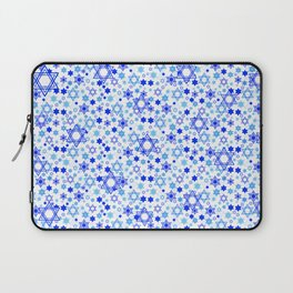 Dynamic Blue Stars of David Pattern Laptop Sleeve