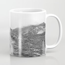 Northwest Mountain Hiking Trail Rocky Forest Black White Landscape Bellingham Washington Coffee Mug