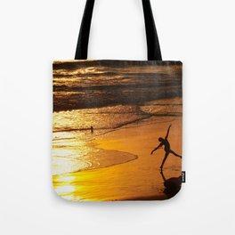 Modern Rio Dancing On the Sand Tote Bag