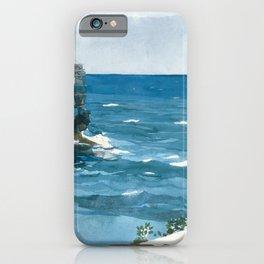 Winslow Homer1 - Rocky Shore, Bermuda - Digital Remastered Edition iPhone Case