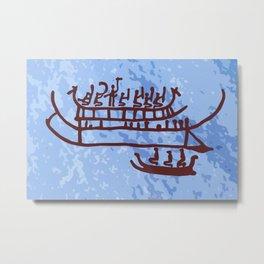 Swedish Rock Painting Metal Print