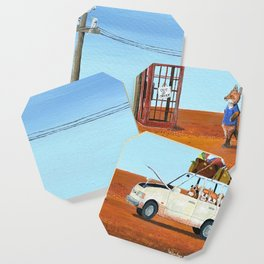 The Out of Service Phone Box Coaster