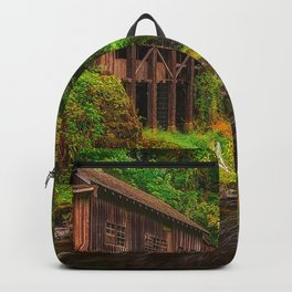 Image Washington USA Trees Cedar Creek Grist Mill  Forests river stone Bush Nature forest Rivers Stones Shrubs Backpack