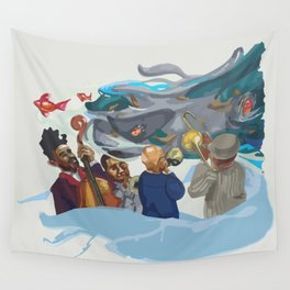Jazz band Wall Tapestry
