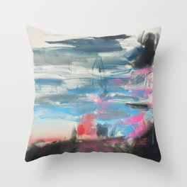 Sunset and a Thunderstorm Throw Pillow