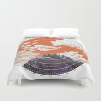 camp Duvet Covers featuring Base Camp by mattdunne