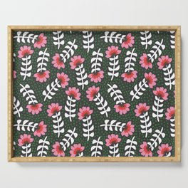 Camelita Retro Folk Flower Serving Tray