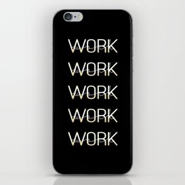 Work 3 iPhone Skin