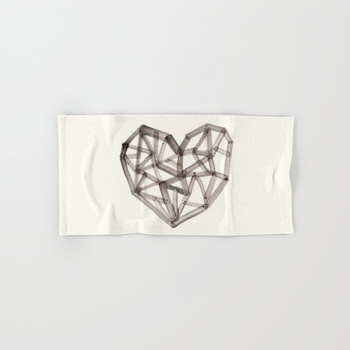 Wooden Heart Hand & Bath Towel