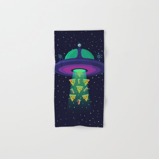 Alien Munchies Hand & Bath Towel