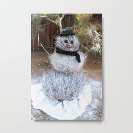 Winter Tumble Man Metal Print