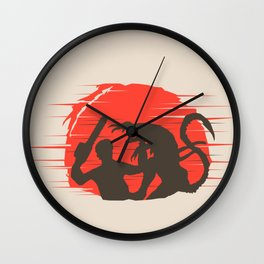 Ash vs Aliens Wall Clock