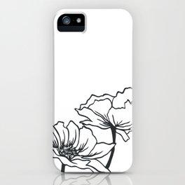 Paper-cut Poppy iPhone Case