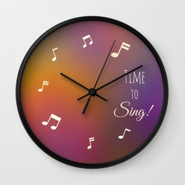 Time to Sing Wall Clock