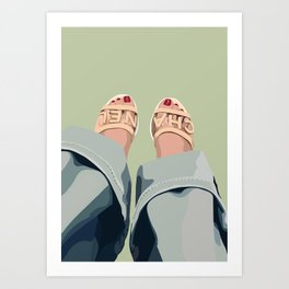 slippers Art Print