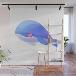 Cute whale. Vector graphic character Wall Mural