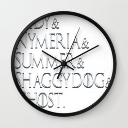 Game Of Thrones Direwolves Wall Clock